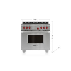 "Legacy Model - 36"" Dual Fuel Range - 6 Burners"