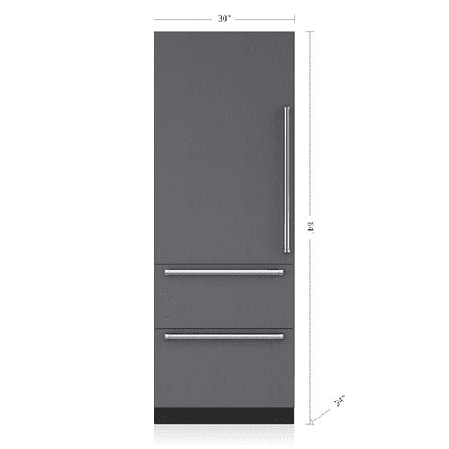"Sub-Zero - 30"" Designer Over-and-Under Freezer with Ice Maker - Panel Ready"
