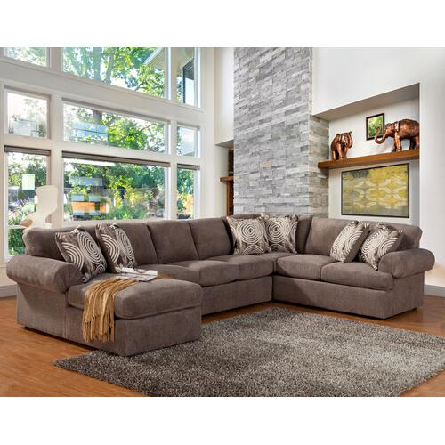 Comfort Industries - Brandon 3 Pc. Sectional Pewter