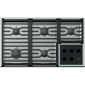 """Wolf36"""" Transitional Gas Cooktop - 5 Burners"""