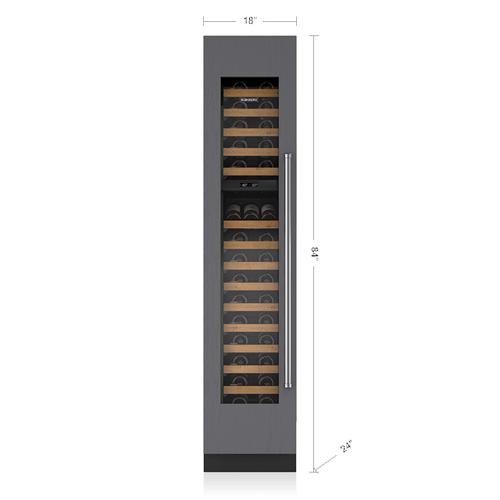 "Sub-Zero - 18"" Designer Wine Storage - Panel Ready"