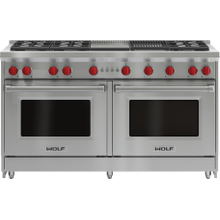 """See Details - 60"""" Gas Range - 6 Burners, Infrared Charbroiler and Infrared Griddle"""