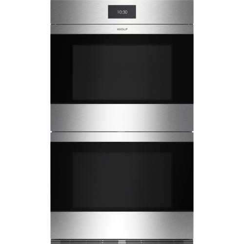 """Wolf - 30"""" M Series Contemporary Stainless Steel Built-In Double Oven"""