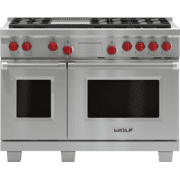 "Legacy Model - 48"" Dual Fuel Range - 6 Burners and Infrared Griddle"