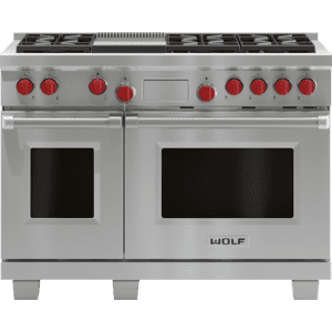 "WolfLegacy Model - 48"" Dual Fuel Range - 6 Burners and Infrared Griddle"