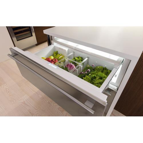"Sub-Zero - 30"" Designer Refrigerator/Freezer Drawers with Ice Maker - Panel Ready"