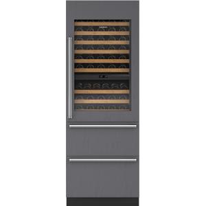 "Subzero30"" Designer Wine Storage with Refrigerator Drawers - Panel Ready"