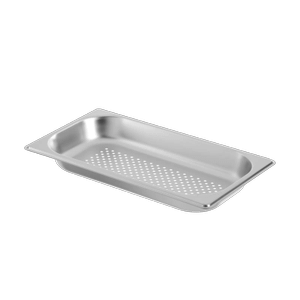 GaggenauSmall Stainless Steel Pan - Perforated GN124130