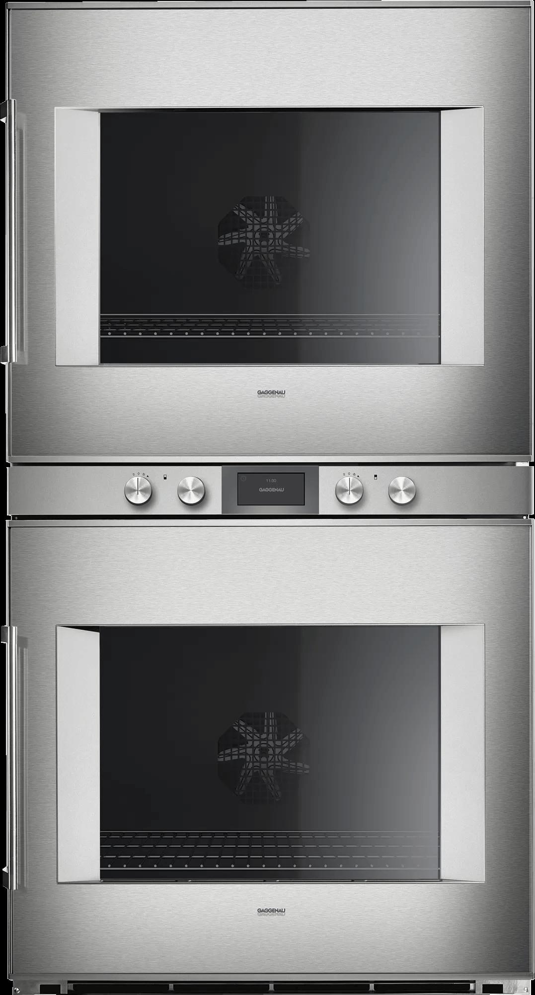 400 Series Double Oven 30'' Door Hinge: Right, Door Hinge: Right, Stainless Steel Behind Glass Photo #1