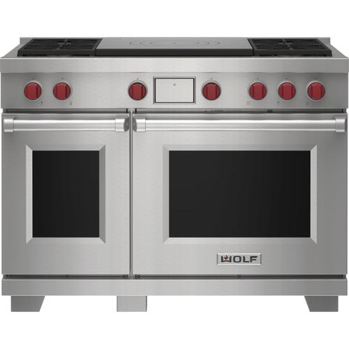 """Wolf - 48"""" Dual Fuel Range - 4 Burners and French Top"""