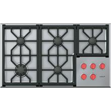 """See Details - 36"""" Professional Gas Cooktop - 5 Burners"""