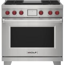 """See Details - 36"""" Dual Fuel Range - 4 Burners and Infrared Griddle"""