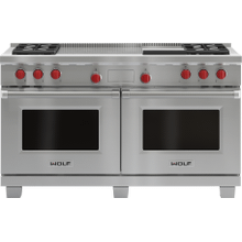 "Legacy Model - 60"" Dual Fuel Range - 4 Burners, Infrared Griddle and French Top"