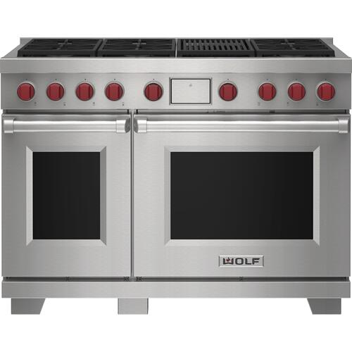 """Wolf - 48"""" Dual Fuel Range - 6 Burners and Infrared Charbroiler"""