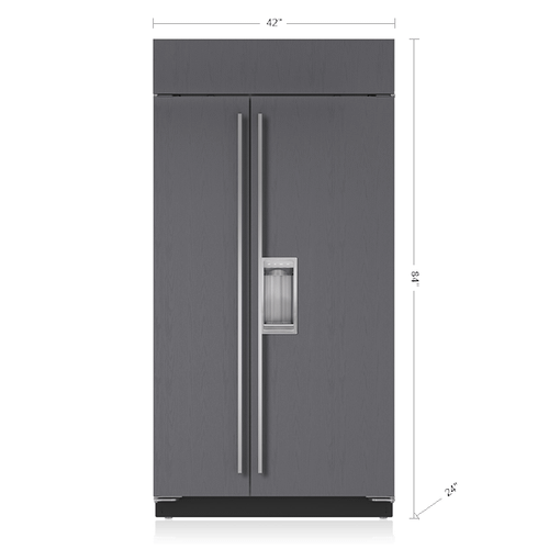 """Sub-Zero - 42"""" Classic Side-by-Side Refrigerator/Freezer with Dispenser - Panel Ready"""