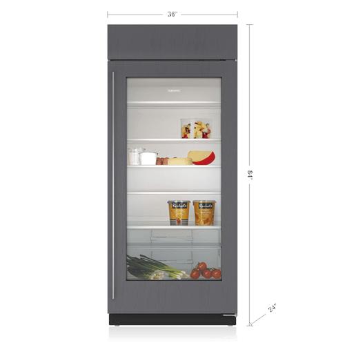 "Sub-Zero - 36"" Classic Refrigerator with Glass Door - Panel Ready"