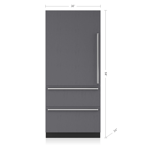 """Sub-Zero - 36"""" Designer Over-and-Under Refrigerator/Freezer with Internal Dispenser and Ice Maker - Panel Ready"""