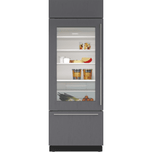 """Subzero30"""" Classic Over-and-Under Refrigerator/Freezer with Glass Door - Panel Ready"""