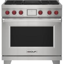 """See Details - 36"""" Dual Fuel Range - 4 Burners and Infrared Charbroiler"""
