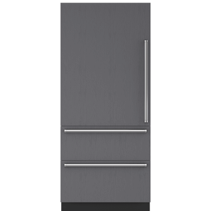 "Subzero36"" Designer Over-and-Under Refrigerator/Freezer with Ice Maker - Panel Ready"