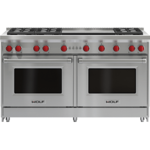 """Wolf60"""" Gas Range - 6 Burners and Infrared Dual Griddle"""