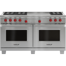"Legacy Model - 60"" Dual Fuel Range - 6 Burners and French Top"