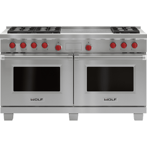 """Legacy Model - 60"""" Dual Fuel Range - 6 Burners and French Top"""