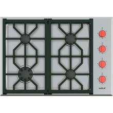 """See Details - 30"""" Professional Gas Cooktop - 4 Burners"""
