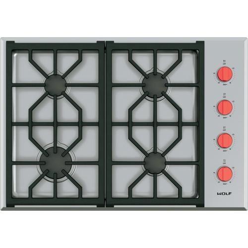 """Wolf - 30"""" Professional Gas Cooktop - 4 Burners"""