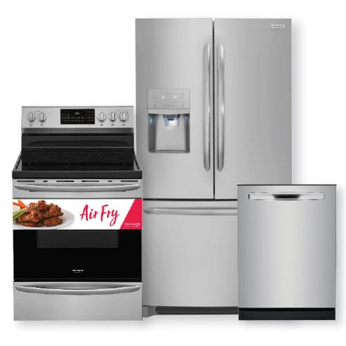 FRIGIDAIRE GALLERY Stainless Steel 26.8 Cu. Ft. French Door Refrigerator 3-Piece Package