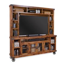 """View Product - Industrial 84"""" Console and Hutch"""