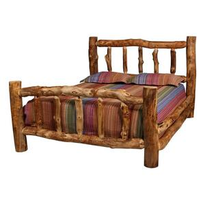 Aspen Log Bed ( Straight Rails )