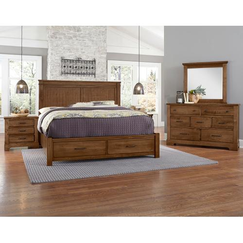 Artisan & Post Solid Wood - Cool Rustic Solid Maple Door Chest - Amber Finish