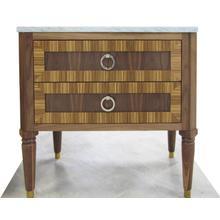 "Product Image - Delaney 36"" Walnut Vanity with Zebra Wood Detail"