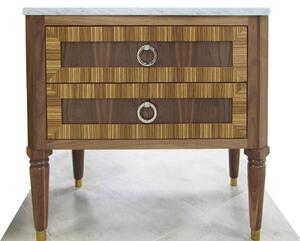 "Delaney 36"" Walnut Vanity with Zebra Wood Detail Product Image"