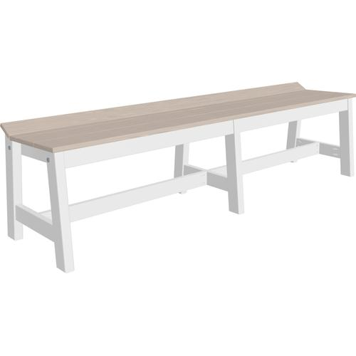 "Cafe Dining Bench 72"" Premium Birch and White"