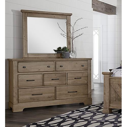 Cool Rustic Seven Drawer Dresser & Mirror