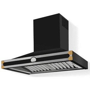 Lacornue Cornufe - Gloss Black Albertine 90 Hood with Polished Brass Accents