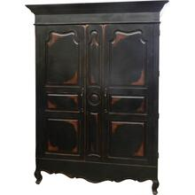 Baronial Armoire in Antique Black
