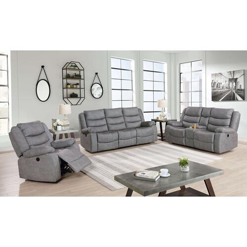 Granada Reclining Sofa in Arcadia Beamer Gray Fabric