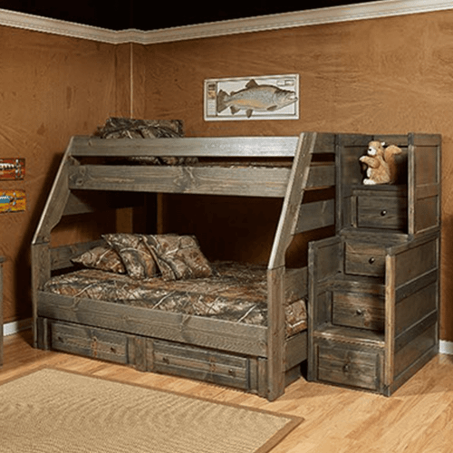 HIGH SIERRA TWIN/FULL BUNK BED WITH STAIRWAY CHEST