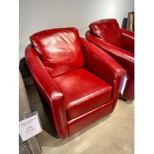 View Product - Alfresco Marsala Leather Swivel Glider