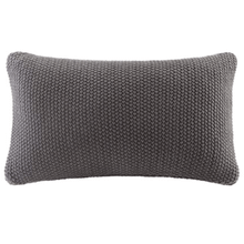 Bree Charcoal Knit 20 x 20 Oblong Pillow