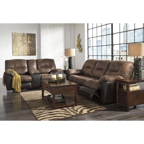 """Follett"" Reclining Sofa/Console Loveseat/T477 Lift Top Coffee Table"