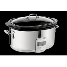 6.5Qt Electric Slow Cooker Stainless Steel