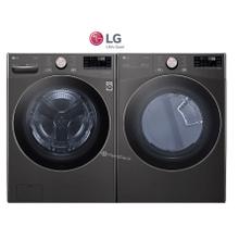 LG Front Load black steel Pair