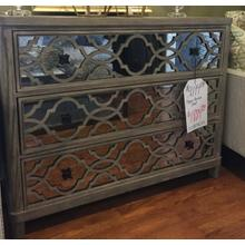 Mirrored Front Accent Drawer Chest