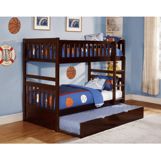 Rowe Bunk Bed Twin on Twin with Twin Trundle