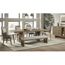 See Details - 6 Piece Set (Table, 4 Side Chairs and Bench)