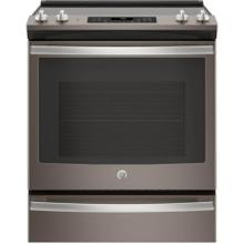 GE 5.3CF Slate Electric Smoothtop Convection Slide In Range with Self Clean